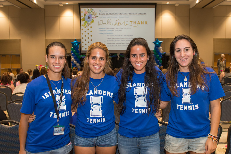 Marina Vicens, Judit Vives, Celia Rodriguez and Maider Martin. Tuesday September 01, 2015 at the TAMU-CC Girls Night Out. Over 500 students attended the event welcoming them into college.