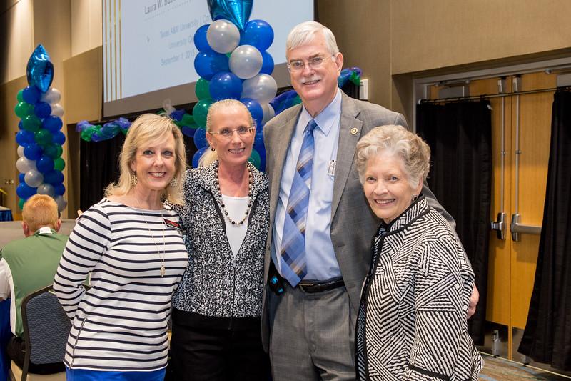 Angela Knapp(left) Kathy Killebrew, Flavius Killebrew and Gloria Hicks at the TAMU-CC Girls Night Out. Tuesday, September 1, 2015.