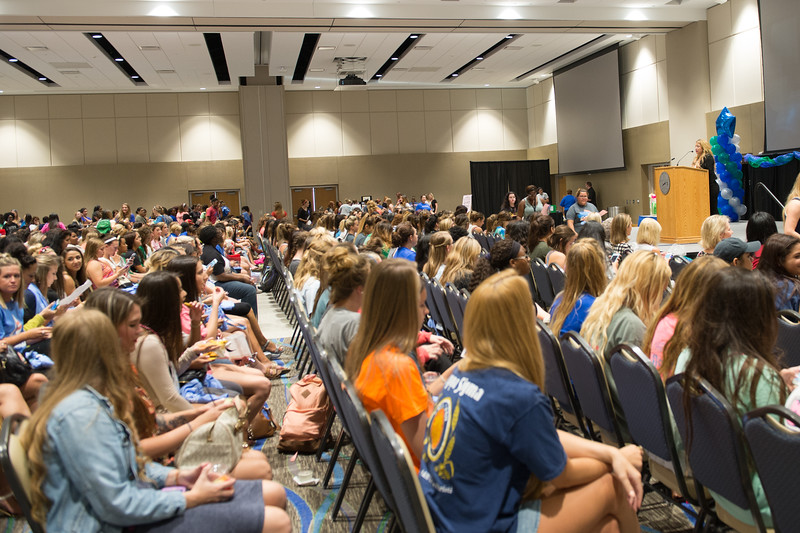 Over 500  TAMU-CC students attended the Girls Night Out Event, welcoming them into college.