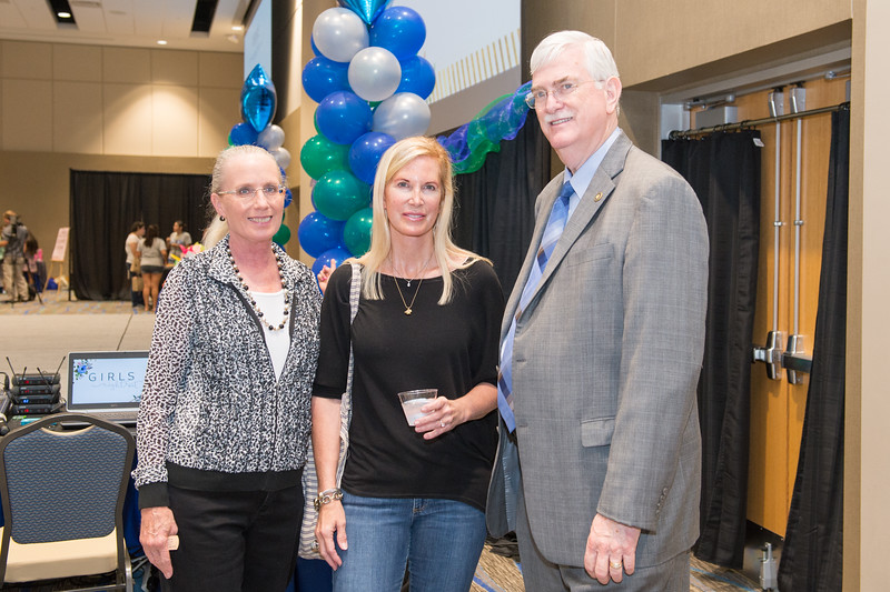 Kathy Killebrew(left) Beth Holloway and Flavius Killebrew at the TAMU-CC Girls Night Out event. Tuesday September 01, 2015.