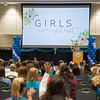 Connie Tyne welcomes the TAMU-CC students to the Girls Night Out event. Over 500 students attended the event welcoming them into college.