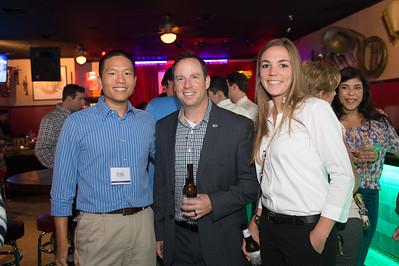 Derek Chang(left) Che Goff and Mallory Gabriel at the CCU40 kick off event in Corpus Christi, Tx.