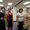Students Jason Narres(left), Kayla Macleod, Allison Esquivel, and Paige Walker pose for a picture during the Banned Books Week Open House.