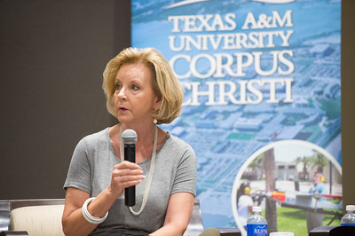Geanie Morrison answers a question during the Texas Tribune Event, Monday September 28, 2015 in TAMU-CC.