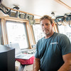 Co-Captain and Fishing Master, Brett McBride on the Ocearch vessel. Monday October 12, 2015.