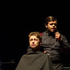 Students Grayson Ware (left) and David Lautenschlager during their performance Voices of Villainy on October 19 at the Performing Arts Center.
