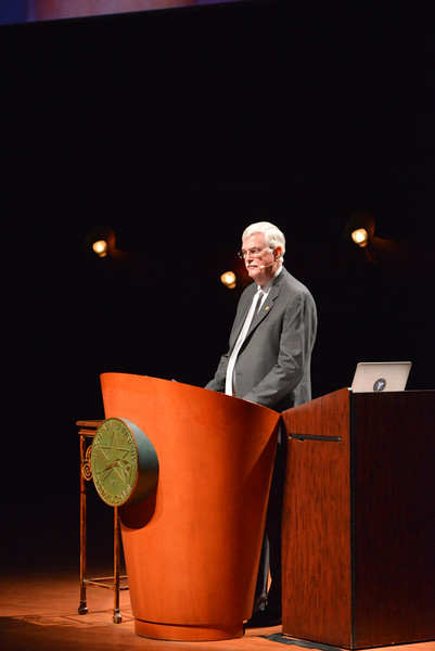 TAMU-CC President and CEO Flavius Killebrew during the opening presentation of the Distinguished Speaker Series Bill Nye the Science Guy. Wendesday October 21, 2015.