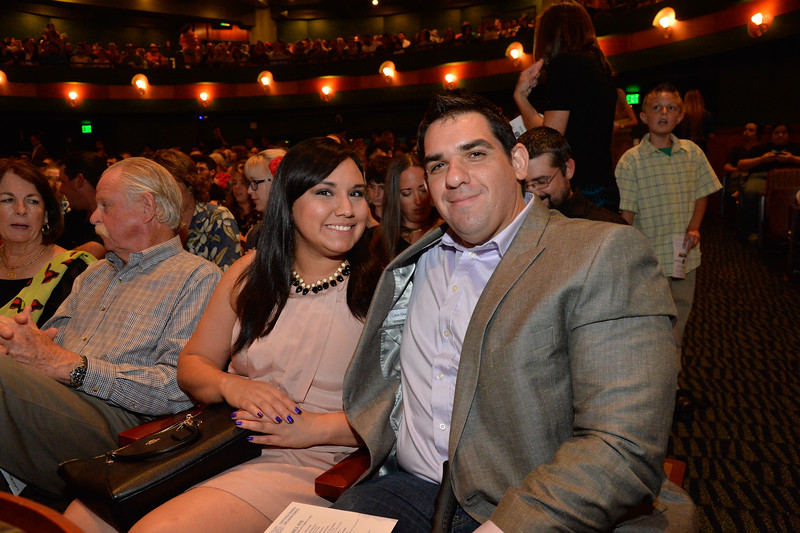 Chrystal Gonzalez and Chris Garza at the TAMU-CC DSS Bill Nye event. Wednesday October 21, 2015.