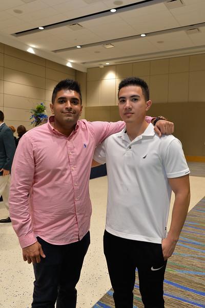 Omar Nasim and Jesus Garcia at the TAMU-CC Distinguished Speaker Series Bill Nye. Wednesday October 21, 2015.