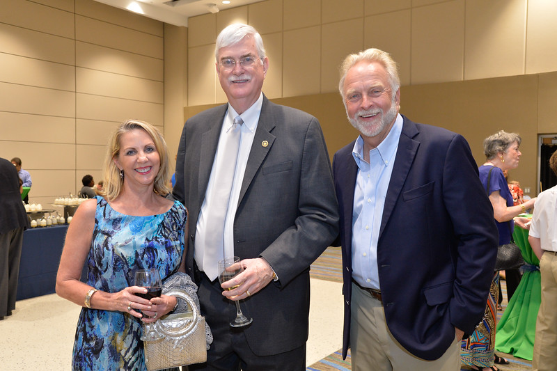 Dr.Killebrew , Deneece Squires(left) and Wayne Squires at the TAMU-CC DSS Bill Nye event. Wednesday October 21, 2015.