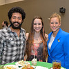 Dillon Keyes(left), Gina Daniel and Allie Sherwood at the TAMU-CC Distinguished Speaker Series Bill Nye. Wednesday October 21, 2015.