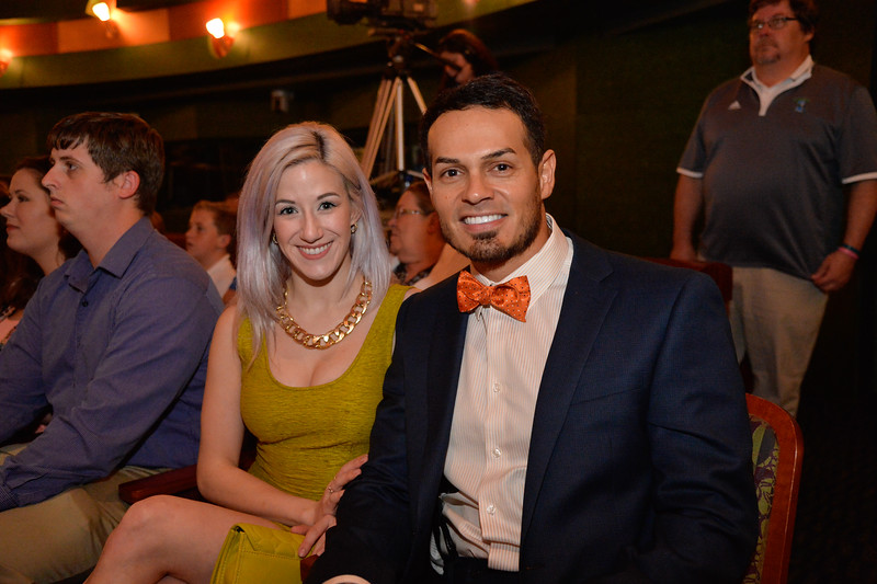 Amie Mackay and Jimmy Salinas at the TAMU-CC DSS Bill Nye event. Wednesday October 21, 2015.