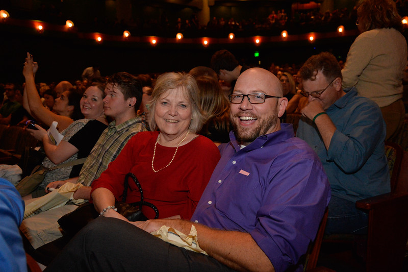 Eve Layman(left) and Scott Layman at the TAMU-CC DSS Bill Nye event. Wednesday October 21, 2015.