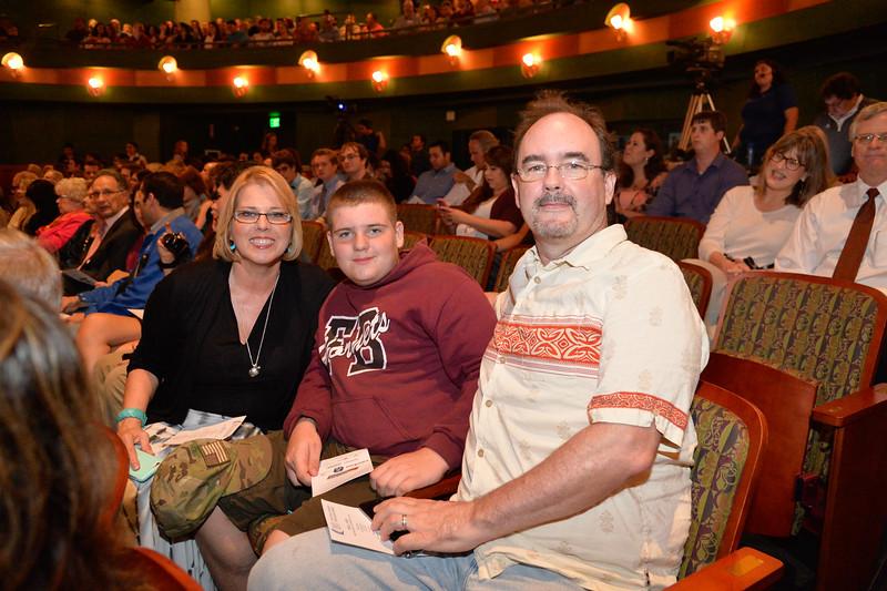 Julie Fomenko , Luke Fomenko and Luke Fomenko at the TAMU-CC DSS Bill Nye event. Wednesday October 21, 2015.