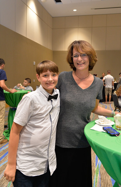 Taylor Hall and Lori Hall at the TAMU-CC DSS Bill Nye event. Wednesday October 21, 2015.
