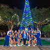 The Cheer and Dance team post for a portrait with TAMU-CC's first lady Kathy Killebrew.