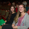 Students Brittany Casey (left) and Randi Cannon attend the Holiday Gala.