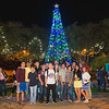 The Islander Batallion poses for a picture in front of the christmas tree in Lee Plaza. During the Islander Lights Celebration.