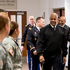 LTG Larry Wyche greets TAMU-CC cadets during his tour on campus. Monday November 30, 2015.