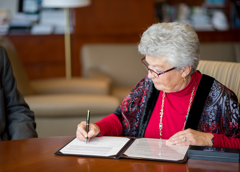 Janet Tysinger during  the Layman Professorship Signing Luncheon in TAMU-CC. Wednesday December 16, 2015.