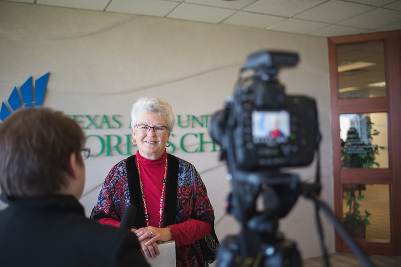 Janet Tysinger during an interview with the Marketing and Communication department at TAMU-CC. Wednesday December 16, 2015.