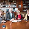 Dr. Eve Layman(left) Dr. Flavius Killebrew, Janet Tysinger and Dr. Mary Hamilton at the Layman Professorship Signing Luncheon in TAMU-CC. Wednesday December 16, 2015.