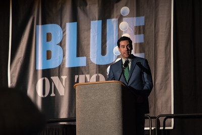 Alan Holt hosting the Blue on Tour event.