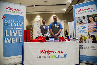 Ben Jung and Jason Volz representing Walgreens at the Business Career Fair