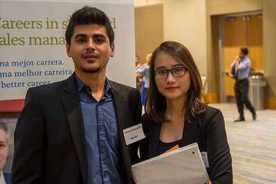 Students Richard Alqurashi and Anti Pham attending the Business Career Fair