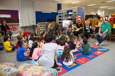 Cindy English reading The Cat In The Hat to the kids.