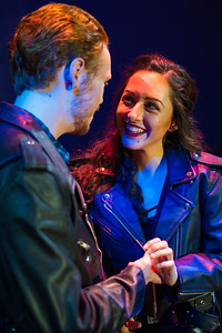 Kristina Jaime and B. Connor Flynn perform as Mimi and Rodger, two lovers with AIDS in the musical Rent.