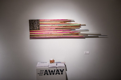 """Pual Seeman's work titled """"New Glory"""" hanging in the Weil Gallery"""