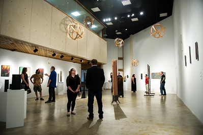 Many people come in to appreciate and view the art in the Weil Gallery