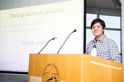 "speaker Dr. Raul Necochea  preseniting  his presentation at the ""Bodies Graduate Symposium"""