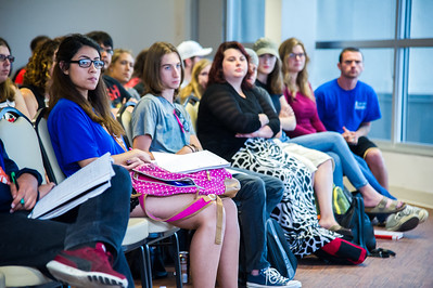 "students attend Dr. Raul Necochea's keynote presentation at the ""Bodies Graduate Symposium"""