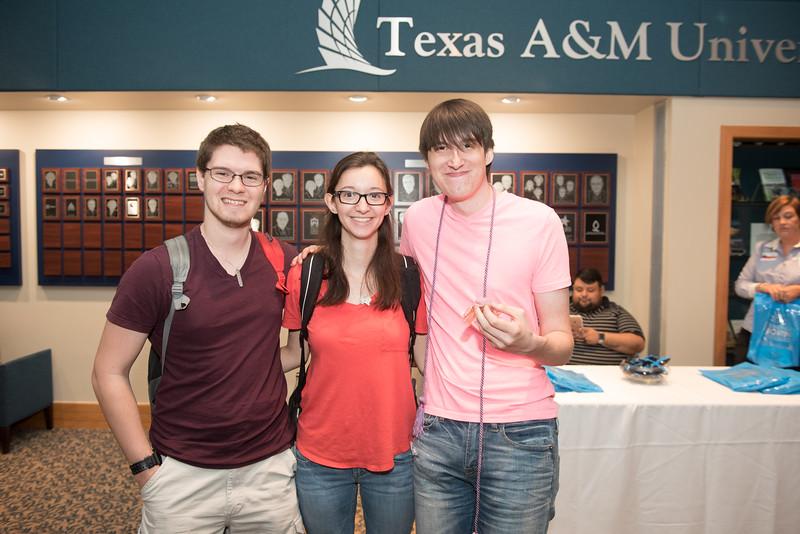 Alex (left) Maria Cherry and William Swinny during the TAMU-CC Lavender event.