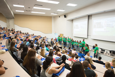 Orientation leaders introudce themselves at the new student orientation. Monday June 13, 2016 in Bay Hall.