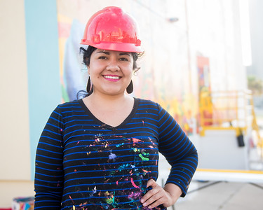 Sandra Gonzalez,  TAMU-CC Alumn. Hired artist to paint the Corpus Christi Mural in downtown Corpus Christi, Tx.