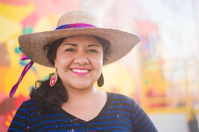 TAMU-CC Alumni, Sandra Gonzalez. Arrives early in the morning to prepare for the final pieces of the Corpus Christi Mural.