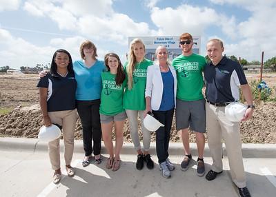 Andrea Gilson (left), Elizabeth Mock, Taylor Griffen, Brianna Brink, Kathy Killebrew, Scott Kelley and Garret Ransom.