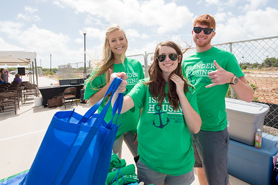 Brianna Brink (left), Taylor Griffen and Scott Kelley.