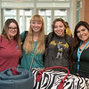 Megan Mcllwain (left), Sabrina Hutton, Victoria Wallin and Abigail Acevedo. Gather for a photo as they wait to check in for Aloha Days. Saturday August 20, 2016 in the University Center.
