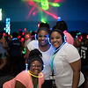 Zahria Brown (left), Jasmyn Shelton and Jalyn Williams. Monday August 22, 2016 during the New Student Orientation Glow Party.