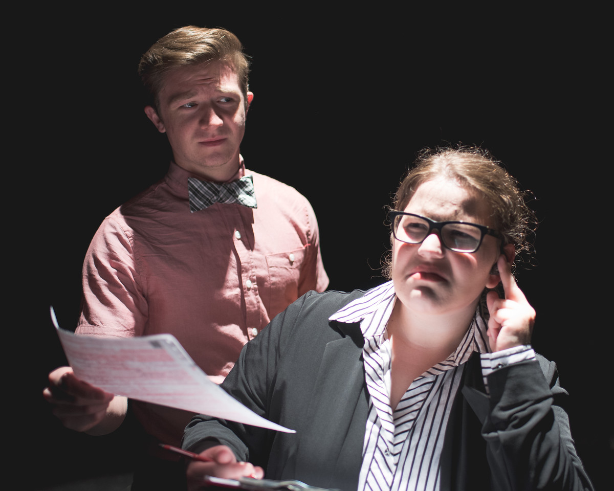 Ivan Froese (Peter) and Grace Taylor (Marcy Smith-Mcmillan) during the Good for Otto rehearsal shoot.