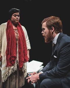 Rosaline Gutierrez ( Evangeline Ryder) and Connor Flynn (Dr.Michaels)