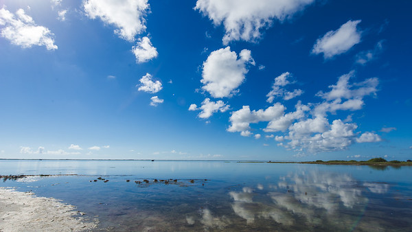 Clouds drift by the Laguna Madre