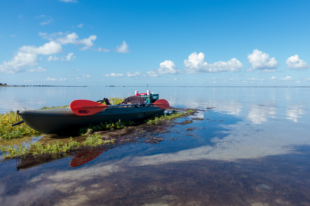Jeff McDaniel's kyak used for getting around the Laguna Madre Field Station.