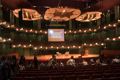 TAMU-CC / Marketing & Communications Students from local area schools fill the TAMU-CC Performing Arts Center for student forum.