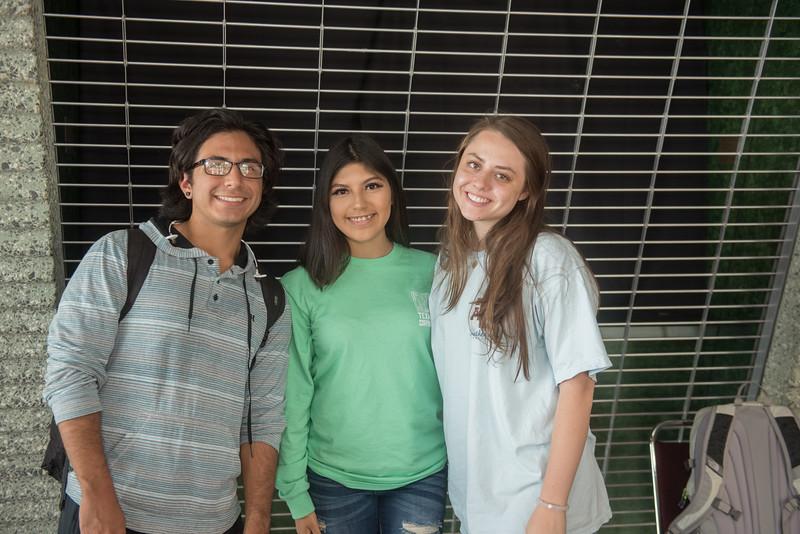 Andrew Luna, (left) Jannet Gomez and Christina Machen