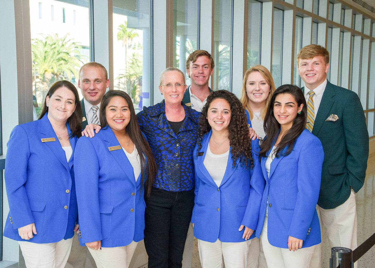 Tamucc President Ambassators with Tamucc first lady Kathy Killebrew.